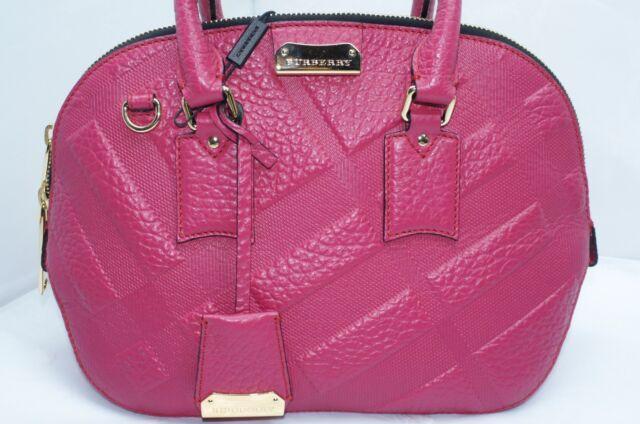 e2c2c952823d Burberry Grain Check Orchard Bag Bowling Handbag Satchel Leather for ...