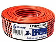 Red Black 30 M 2 X 2.5 Mm M and G Techno Germany SPEAKER CABLE 100% CCA COPPER