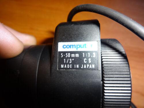 """Computar 5-50mm Vari-Focal 1//3/"""" 1:1.3 CCTV Auto Iris Security Camera Lens"""