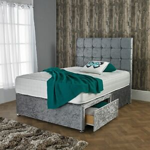 NEW-CRUSHED-VELVET-DIVAN-BED-SET-WITH-ORTHOPEDIC-MATTRESS-AND-FREE-20-034-HEADBOARD