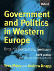 Government and Politics in Western Europe: Britain, France, Italy, Germany by Yves Meny, Andrew Knapp (Paperback, 1998)