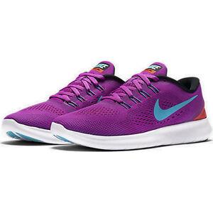 2e1b6687e7d0 WMNS Nike Free RN Hyper Volt Gamma Blue Black Total Crimson 831509 ...