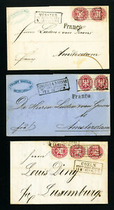 Prussia-Stamps-on-3x-Covers