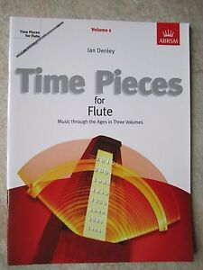 Instruction Books, Cds & Video Time Pieces For Flute Volume 1 By Ian Denley Published By Abrsm *new*