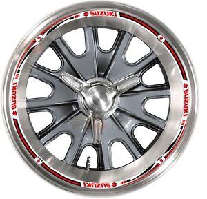 16x Suzuki Reflective Wheel Decals Tape Rim Stickers Motorcycle