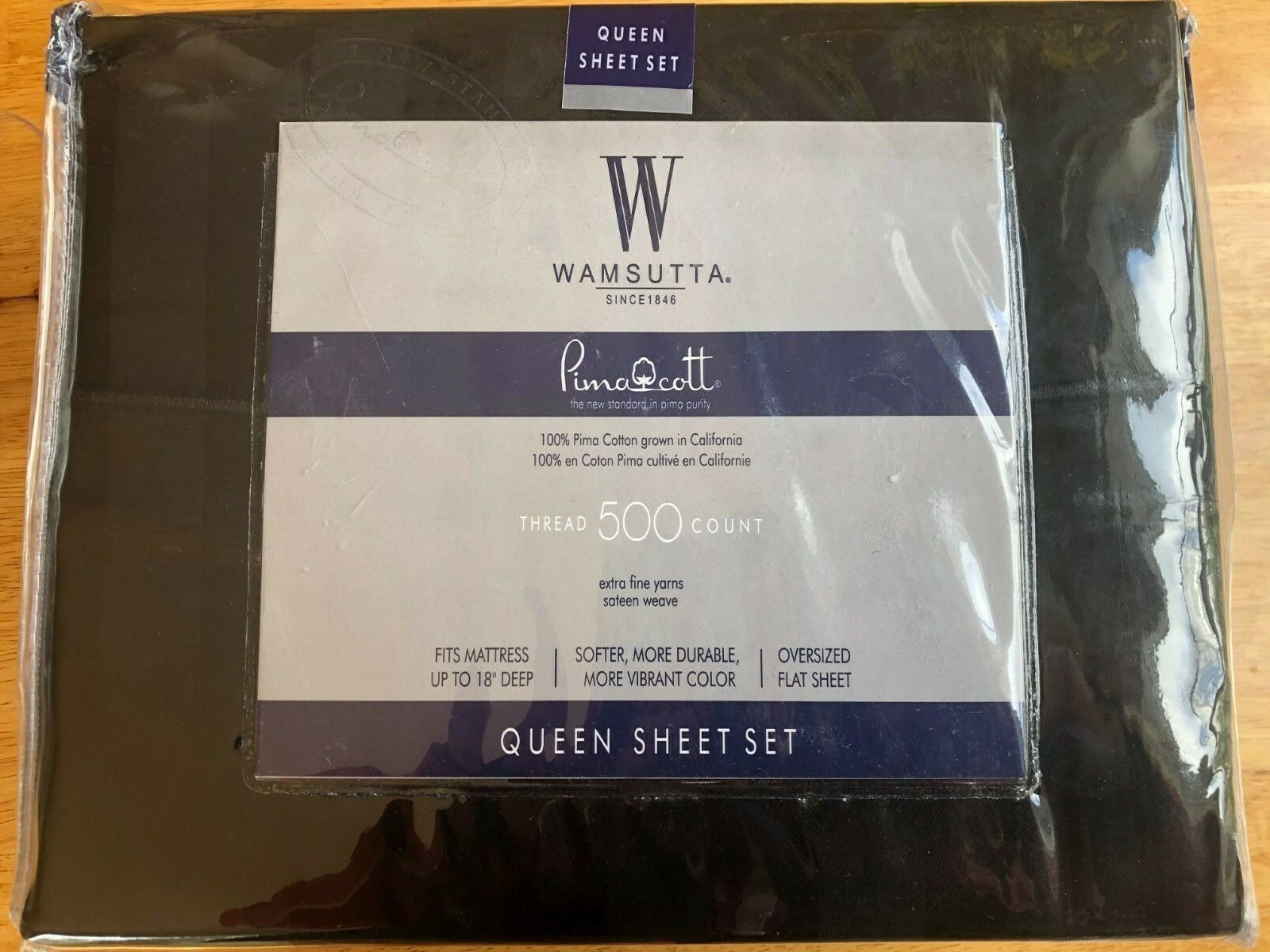 Wamsutta 500 Thread-Count PimaCott 4 Piece Queen Sheet SET VARIOUS BLUE Colors