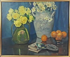 Nature-morte-oil-on-canvas-F-llorens-Diaz-spain-early-twentieth-century