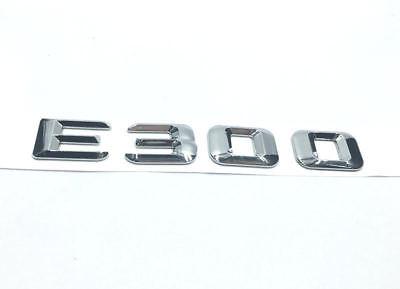 Chrome Letters Car Rear Badge Emblem Stickers Fits for Mercedes Benz E E300L