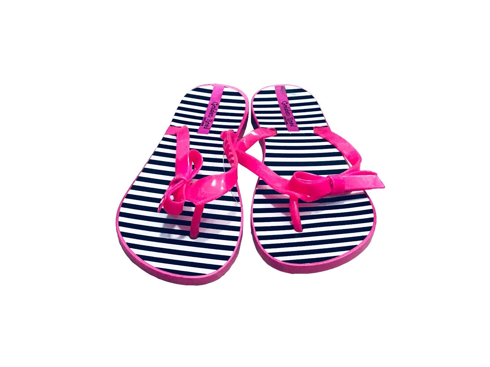 Womens Summer Beach Thong Flat Flip Flops Sandals Strip Slippers Hot Pink 6