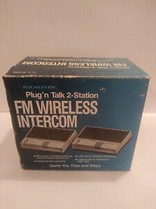 NEW Open Box Realistic Plug N Talk FM Wireless Intercom System 2Station 43-212A