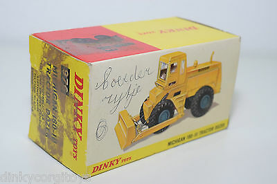 Dinky #976 Michigan 180-111 tracteur Bouteur-Reproduction Box par drrb