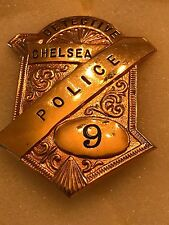 Obsolete Chelsea MA Police Radiator Badge #9 Detective  Fine Condition CL