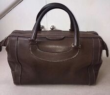 Genuine Gucci Vintage 1970's Rare Large Leather Boston Bag
