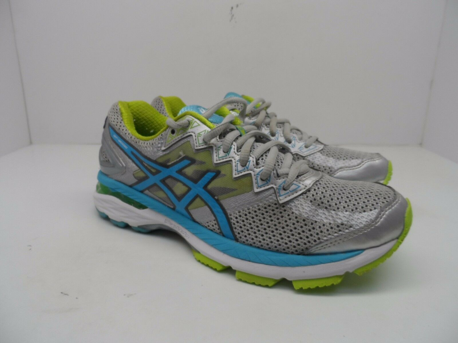 Asics Donna GT 2000 4 argento In esecuzione 8M scarpe argento 4 Turquoise Lime Punch   104383