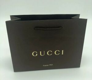 08ddc11c2f95 NEW Lot Of 6 Authentic Embossed Brown Gucci Paper Shopping Bag | eBay