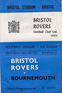 BRISTOL-ROVERS-V-BOURNEMOUTH-3RD-DIVISION-24-3-67