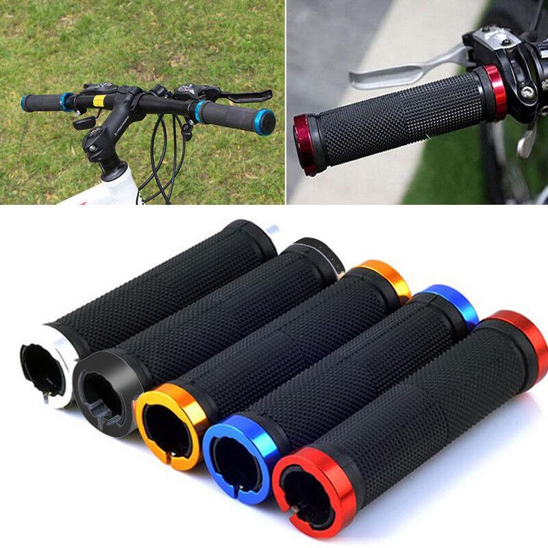2*Metal for BMX bike bicycle double lock on locking cycling handle bar grips SU
