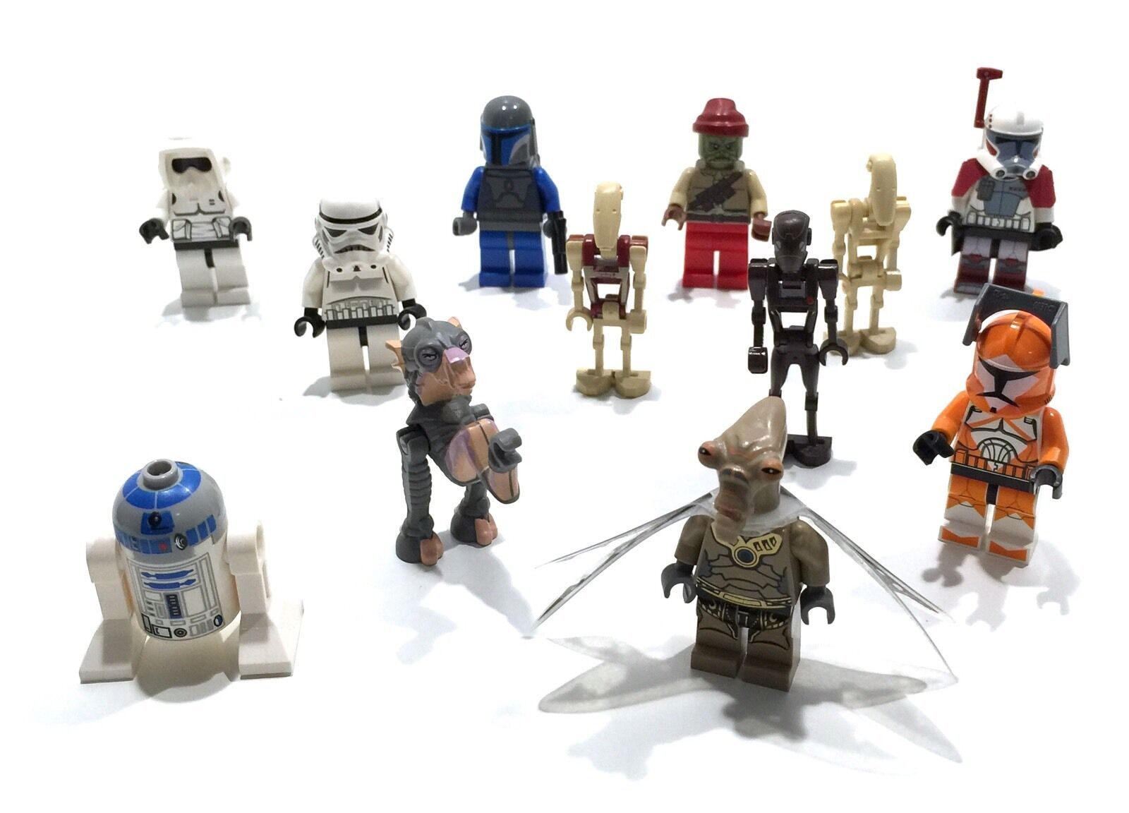 • • • 12 LEGO STAR WARS FIGUREN • • •