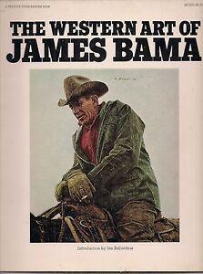 JAMES-BAMA-WESTERN-PAINTINGS-1975-46-COLOR-PLATES-1st-ED-NICE
