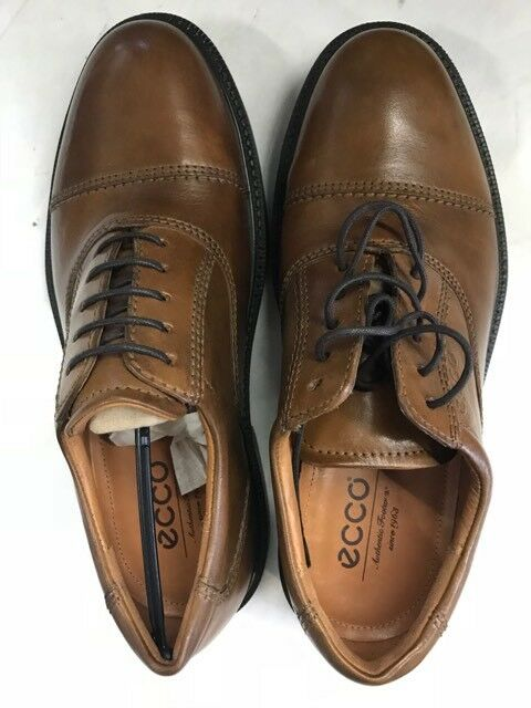 ECCO Men's Leather Oxford- BROWN US 5-5.5 M
