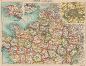 Map Of North France.Northern France Departements Paris Showing Fortifications