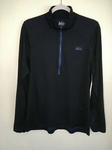 REI-Co-Op-Men-039-s-1-2-Zip-Pullover-Base-Layer-Activewear-Shirt-Blue-Size-Large