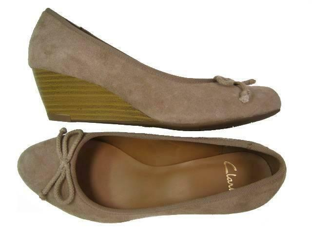 Clarks Donna ** DUBLIN STREETS ** WEDGE 8 TOBACCO SUEDE**  UK 8 WEDGE 9a58a9