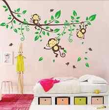 Lovely Cartoon Forest Monkey  Decor Mural Wall Sticker UK