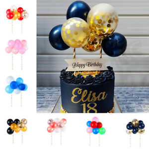 10Pcs-Mini-Balloon-Birthday-Cake-Toppers-Party-Wedding-Cupcake-Dessert-Decor