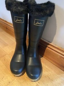 Joules-Downton-Fur-Lined-Wellies-Size-5