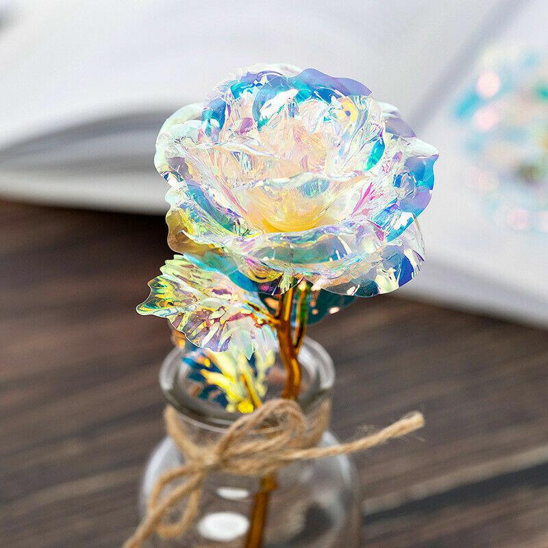 Mother/'s Day Gold Plated Golden Rose Flower Anniversary For Valentine/' V2N9 N1B8