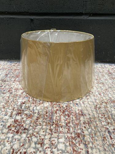 Brand New Yellow Green Lampshade Drum H18cm W29cm