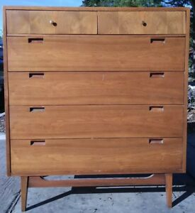 Image Is Loading American Martinsville High Boy Dresser Chest Mid Century