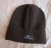 Ugg Hat Cuff Knit Calvert Beanie Stout Wool Blend S/m