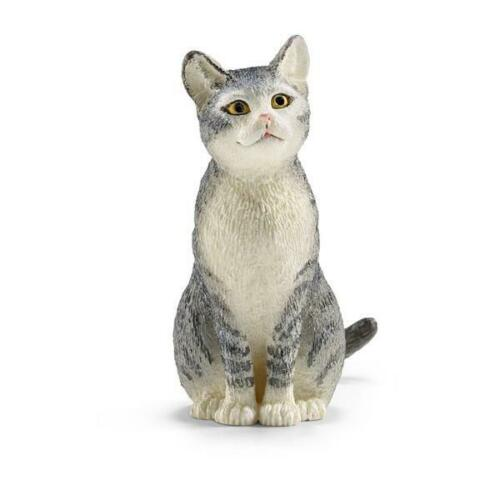 Schleich Cat Sitting Animal Figure NEW IN STOCK Toys