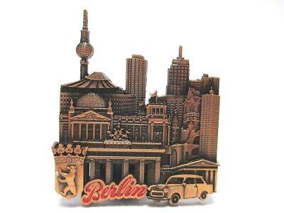 Berlin Metall Magnet Souvenir Brandenburger Tor Collage Mit Taxi Redbronze Seien Sie Im Design Neu