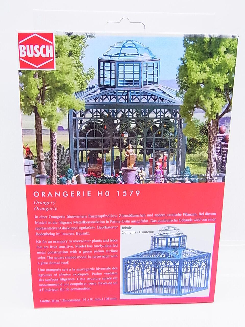 LOT 43068   Busch HO 1579 Orangerie Bausatz NEU in OVP    Won hoch geschätzt und weithin vertraut im in- und Ausland vertraut