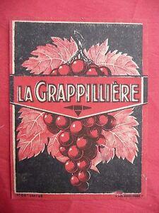 Ancienne-etiquette-de-VIN-LA-GRAPILLIERE-french-wine-label
