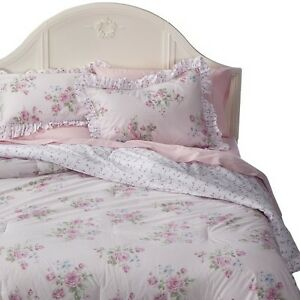 Simply shabby chic misty rose comforter pink ebay - Simply shabby chic bedroom furniture ...