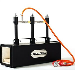 DFPROF3-GAS-PROPANE-FORGE-Furnace-Burner-Knife-Making-Blacksmith-Farrier
