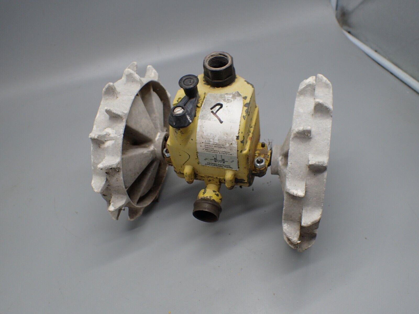 Nelson Rain Train Traveling Sprinkler Tractor GEAR BOX w/ WHEELS Metal For Parts