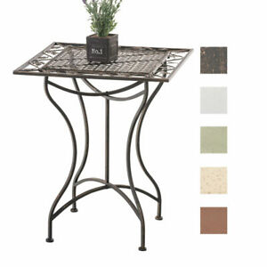 Détails sur Table de jardin en fer forgé ASINA 60 x60 cm table de terrasse  design antique