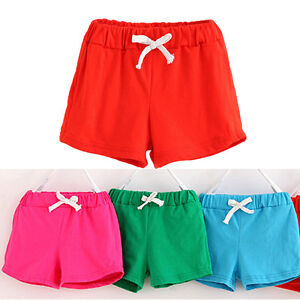 Summer-Children-Kid-Baby-Boys-Girls-Cotton-Casual-Shorts-Sport-Pants-Beach-Pants
