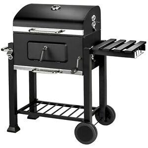 BBQ Griglia a carbonella barbecue giardino legna affumicatoio 115x65x107 nuovo