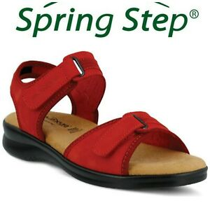 New-Flexus-by-Spring-Step-Danila-Red-Comfort-Strappy-Sport-Sandals-Sz-37-6-5-7