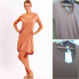 6b8b3f0dbd1f NEW ZARA LONG T-SHIRT DRESS IN PEACH (DARK NUDE) AND BROWN ...