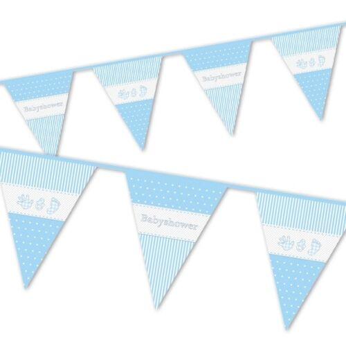 Bleu 10 m Fête prénatale Drapeaux Bannières
