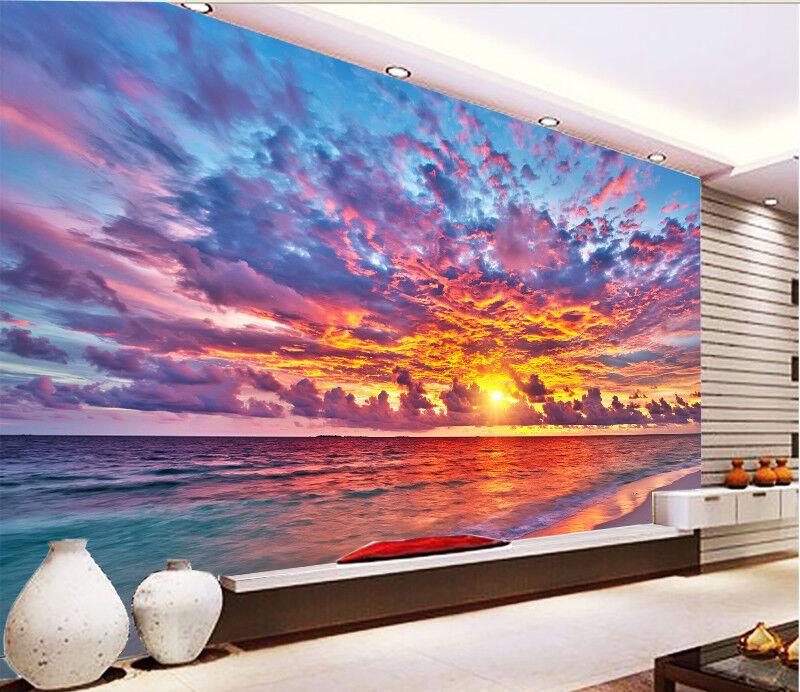 3D Farbe Sky Sea 738 Wallpaper Mural Paper Wall Print Wallpaper Murals UK