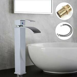 Tall-Waterfall-Bathroom-Taps-Basin-Sink-Mixer-Tap-Counter-Top-Chrome-Mono-Fauce