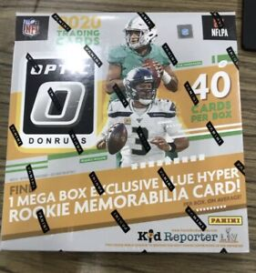 2020 Panini Donruss Optic Football NFL Mega Box Brand NEW SEALED